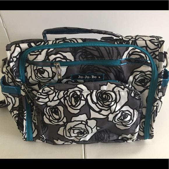 7a3177ea3b31 Ju-Ju-Be Jujube B.F.F. Diaper Bag Charcoal Roses
